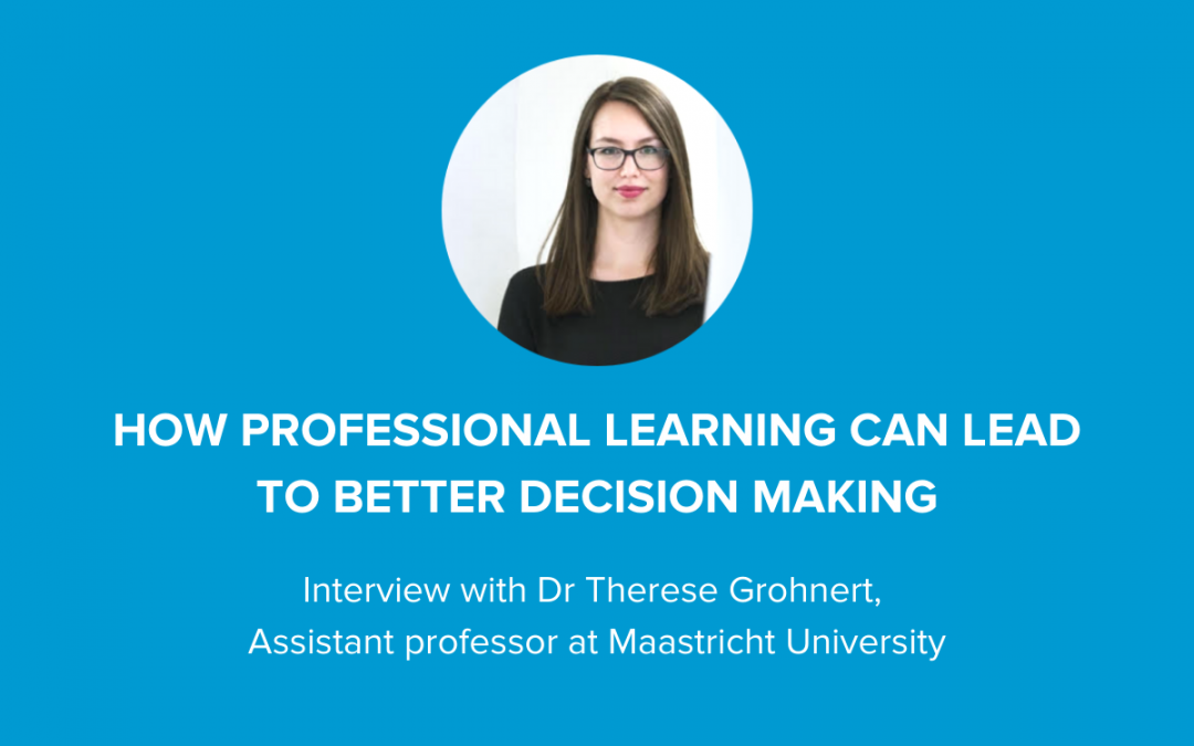 How professional learning can lead to better decision making